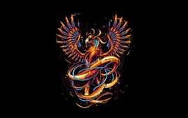 Aperçu fond d'écran Phoenix, photo d'art, design créatif