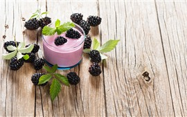 Preview wallpaper Smoothies, drinks, blackberries