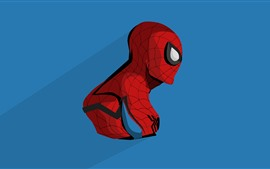 Preview wallpaper Spider-man, anime, blue background