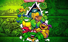 Preview wallpaper TMNT, Teenage Mutant Ninja Turtles, classic anime
