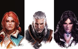 Preview wallpaper The Witcher, characters