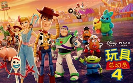 Preview wallpaper Toy Story 4, cartoon movie 2019