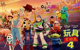 Aperçu fond d'écran Toy Story 4, film de dessin animé 2019