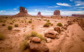 Preview wallpaper USA, Monument Valley National Park, rocks, nature landscape