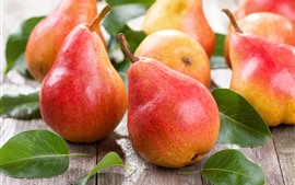 Preview wallpaper Fresh red pears, fruit close-up