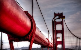 Puente Golden Gate, tubo rojo
