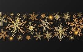 Preview wallpaper Golden snowflakes, creative picture