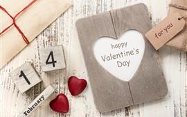 Feliz día de San Valentín, 14 de febrero, corazones de amor