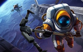 Preview wallpaper League of Legends, space, art picture