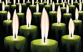 Много свечей, пламя, художественная картина