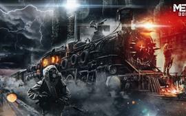 Metro: éxodo, tren, juego