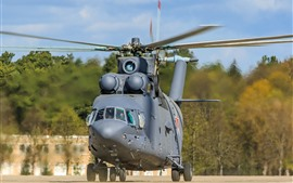 Preview wallpaper Mi-26 helicopter front view