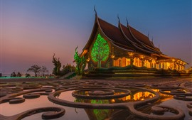 Preview wallpaper Thailand, temple, night, starry