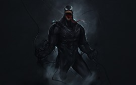 Preview wallpaper Venom, art picture, black background