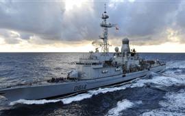 Военный корабль, флот, море