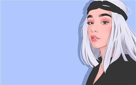 白い髪の少女、アニメ