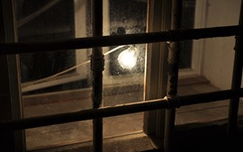 Preview wallpaper Window, lamp, night