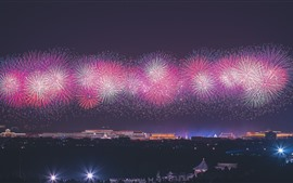 Preview wallpaper 70th Birthday of China, Beautiful fireworks, Beijing, China