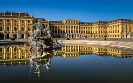 Австрия, Вена, дворец Шёнбрунн, статуя, вода
