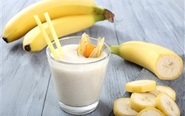 Банан, молоко