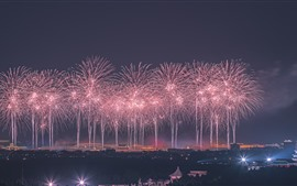 Preview wallpaper Beautiful fireworks, Beijing, China, night