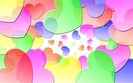 Colorful love hearts, creative picture
