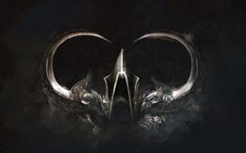 Aperçu fond d'écran Diablo 3, armure, corne, photo d'art