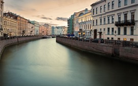 Preview wallpaper Fontanka, Saint Petersburg, Russia, river, city