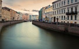 Aperçu fond d'écran Fontanka, Saint-Pétersbourg, Russie, rivière, ville
