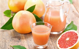 Preview wallpaper Grapefruit, juice, fruit, drinks