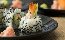Preview wallpaper Japanese cuisine, rice, sushi