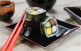 Cozinha japonesa, sushi, palitos