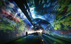 Preview wallpaper Lyon, France, tunnel