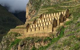 壁紙のプレビュー ペルー、山、遺跡