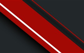 Preview wallpaper Red and black stripes, abstract picture