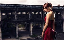 Vorschau des Hintergrundbilder Resident Evil, rotes Rockmädchen