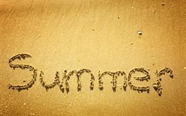 Verão, praia, areias