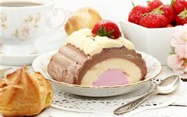 Aperçu fond d'écran Gâteau, fraise, nourriture
