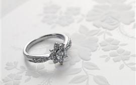 壁紙のプレビュー ダイヤモンドリング、プラチナ