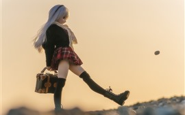 Preview wallpaper Doll, girl, walk