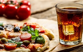 Preview wallpaper Food, pizza, drinks