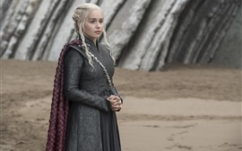 Preview wallpaper Game of Thrones, Daenerys Targaryen, look, TV series