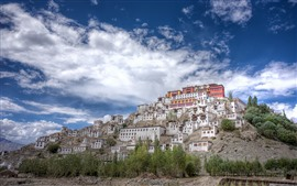 India, Buddhism, Thiksey Monastery