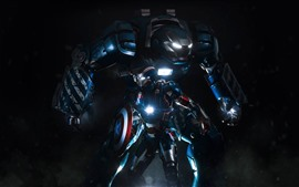 Preview wallpaper Iron Man, Captain America, shield