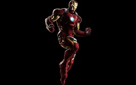 Preview wallpaper Iron Man, superhero, black background