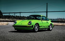 Preview wallpaper Porsche 911 Carrera 1974 green supercar