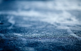 Preview wallpaper Road, water droplets, rain