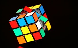 Preview wallpaper Rubik's cube, colorful colors, black background