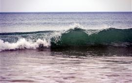 미리보기 배경 화면 바다 파도, 해변, 물