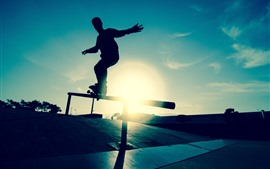 Preview wallpaper Skateboard, sport, silhouette
